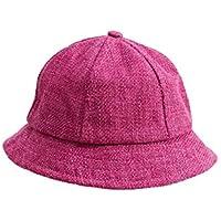 Yyanliii Linda Sombrero del Cubo del Color sólido de los niños Sombrero de Visera del Casquillo del Viento Suave empaquetable para 1-3 años (Azul)