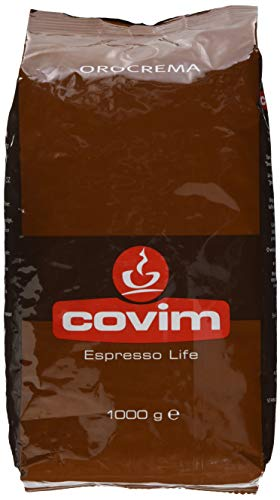 Covim Kaffee Oro Crema, Italienische Kaffeebohnen, Robusta, 1kg