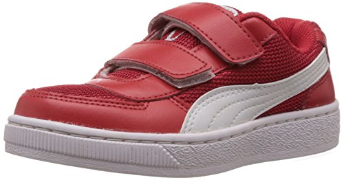 Puma Unisex Contest Lite V Jr DP Red and White Sports Shoes - 11C UK  available at amazon for Rs.1618