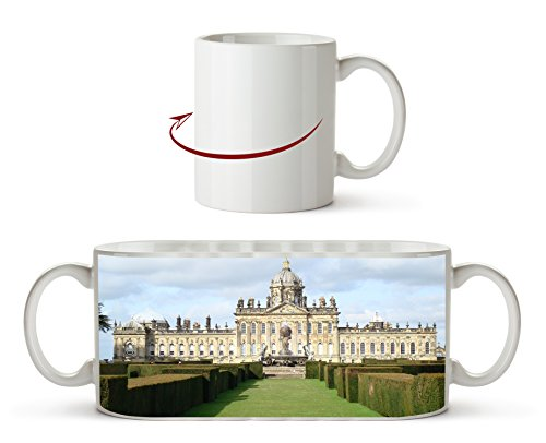 Majestätisches Schloss Howard in England, North Yorkshire als Motivetasse 300ml, aus Keramik weiß,...