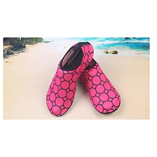 Haut Damen Surf Rose Strandschuhe Surfschuhe Eagsouni® Wasserschuh Swim Für Aquaschuhe Barfußschuhe Schuhe Yoga Schwimmschuhe Badeschuhe Herren 56wcqxvS1