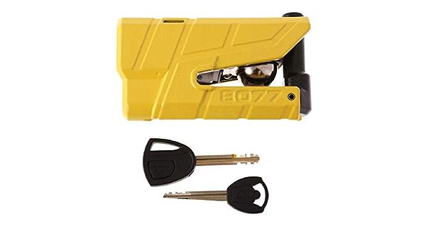 Granit 8077 Detecto X Alarm Disc Lock Dl 13 5mm Abus Bike Diebstahlschutz Für Motorrad Gelb Auto