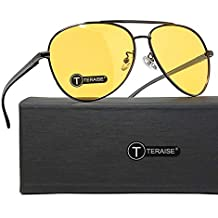 TERAISE Gafas De Visión Nocturna Seguridad Conducción Gafas De Sol Retro Polarizadas Anti-Reflejo HD