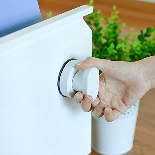 41ExVn2KgPL - Zreal - Tirador de puerta con ventosa para armario de cocina, puerta de cristal, ventosa, tirador para muebles