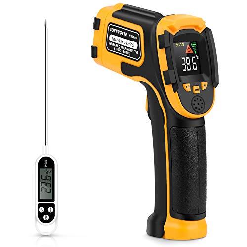 Termometro Infrarossi Termometro Digitale Laser Senza Contatto -58°F~1112°F (-50°C~600°C) Emissività Regolabile - Sonda di Temperatura per Cottura/BBQ Freezer - Termometro per Carne Incluso
