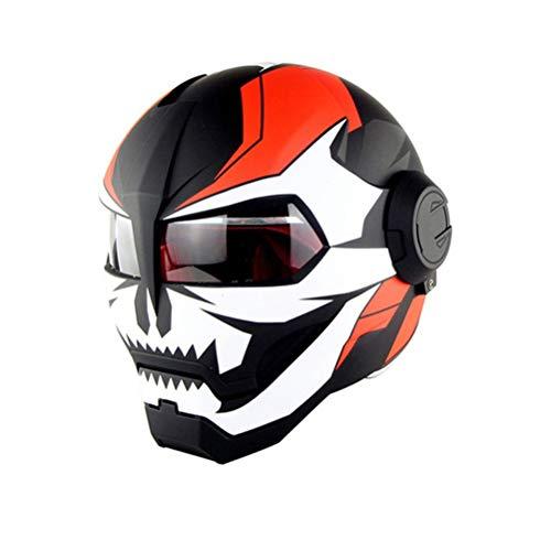 Individualität Integraler Motorradhelm Anti Fog Atmungsaktiv Retro Cruiser Chopper Cafe Racing Schutzkappen Jahreszeiten Universal Racing Motocross Helme