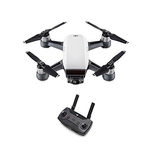 DJI Spark - Mini-Drohne + Remote Fernbedienung, max. Geschwindigkeit von 50 km/h, bis zu 2 km Übertragungsreichweite, 1080p Videos mit 30 fps und 12 Megapixel Fotos - Weiß