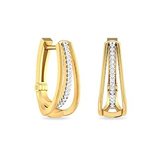 PC Jeweller The Nareen 18KT Yellow Gold and Diamond Stud Earrings for Women