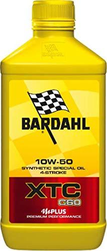 Bardahl XTC C60 10W50 - Olio per motori 4T di moto con o senza frizione a bagno d'olio, 1 Litro