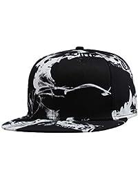 72b4820de75ab Gorra de Béisbol Clásico Unisex Snapback Ajustable Sombrero Sol para Rock y  el Hip Hop
