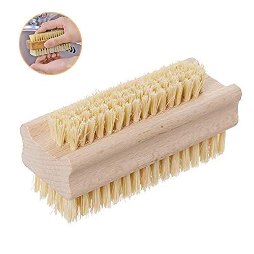 Bebester Nagelbürste, doppelseitig, Kaktus-Borsten für Maniküre, Pediküre, Schrubben, Reinigungsborsten auf beiden Seiten -