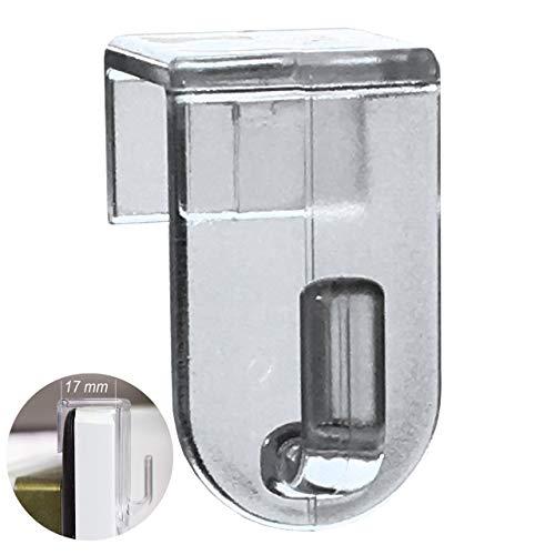 fensterrahmen deko fenster Fensterhaken, Dekohaken, transparent - 20er-Set, 35 x 20 mm - Für Fenster bis maximal 17mm Falzmaß geeignet