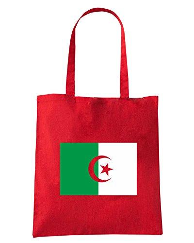 T-Shirtshock - Borsa Shopping TM0152 Algerie Drapeau flag Rosso