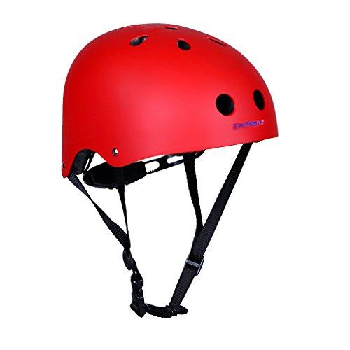 Gazechimp Unisex - Kinder Erwachsene Kletterhelm - Mehrzweck Sicherheitshelm - Rot, S