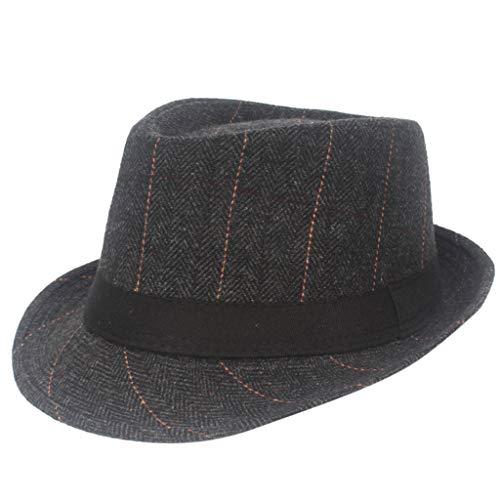 Dasongff Unisex Hut Fedora Herren Trilbyhut Panamahut Sonnenhut Hüte Jazz Kappe (Herren New York Yankees Kostüme)