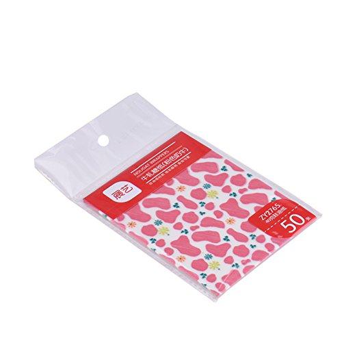 PomeLOL 50DIY Schokolade Sweet Christmas Muster Geburtstag Hochzeit Candy Sugar nougat Geschenkpapier Wrapper Verpackung Treat Papier für Tea Party Pink Cow