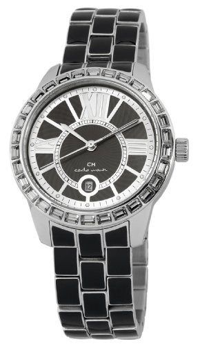 Carlo Monti Cosenza Women's Quartz Watch with Black Dial Analogue Display and Black Stainless Steel Bracelet CMZ01-122