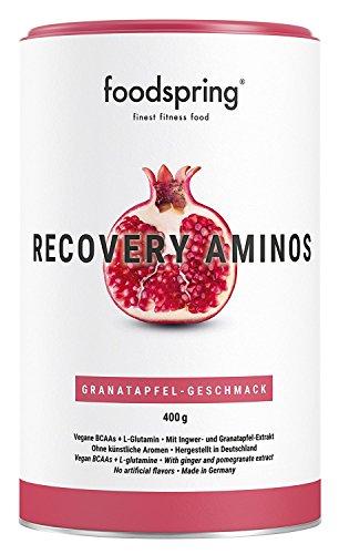 foodspring Recovery Aminos, 400g, Granatapfel, Cleane Post-Workout Recovery ohne künstliche Aromen, Hergestellt in zertifizierten Produktionen in Deutschland -