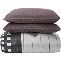 Reig Martí Tomeo - Juego de funda nórdica jacquard, 4 piezas, para cama de 180 cm, color gris