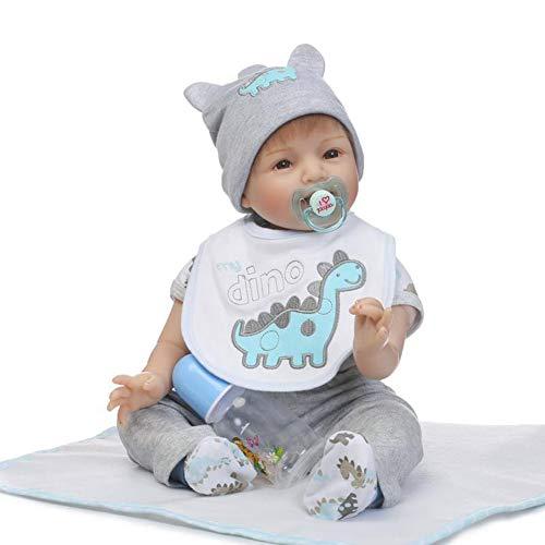 CHENG Reborn Baby Dolls Realistisch Aussehende Niedliche Reborn Puppe Spielzeug Geschenk Für Kinder,Color1,55CM