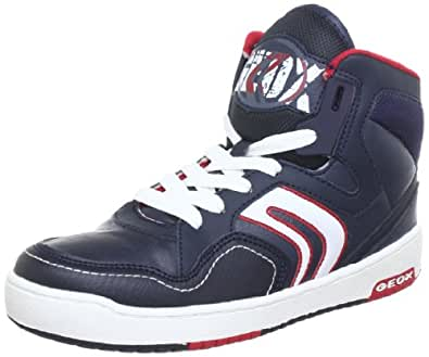 Geox J Oracle B, Baskets mode garçon - Bleu (Navy/Red), 31 EU
