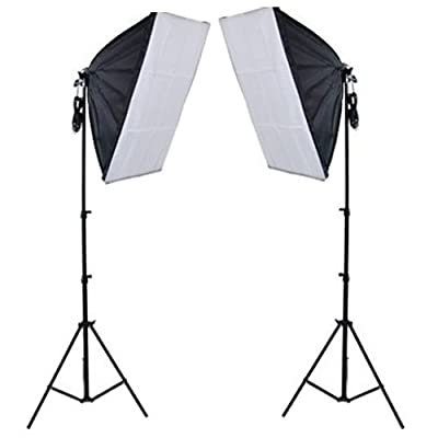 PMS Continuous Lighting Lamp Bulb Photography Photo Soft Boxes Kit - inexpensive UK light store.