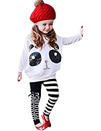 ZODOF Conjunto de Ropa para Niñas Ropa Bebe Niña Invierno Camiseta de Manga Larga Sudaderas Niña Top y Pantalones de Mezclilla