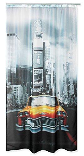 Voile Dekoschal bedruckt ca. 140x245 Vorhang halbtransparent Gardine Band #1646 New York