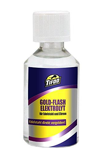 Goldelektrolyt Flash (50 ml) - Für Vergoldung von Edelstahl & Chrom