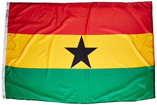 "Annin flagmakers 192969Nylon solarguard nyl-glo Ghana Flagge, 4X 6"""