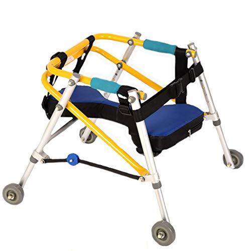 Yxian Andadores Ayuda para la rehabilitación del Miembro Inferior del niño Soporte de Entrenamiento Dirección Direccional Discapacidad del Miembro Inferior de Cuatro Ruedas,51x5cm(20x2inch)
