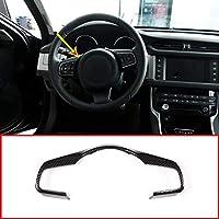 ABS plástico del volante del coche accesorios decorativos marco ajuste de fibra de carbono estilo para