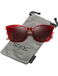 462d35dc1e SOJOS Gafas De Sol Unisex Hombre Mujer Clásico Retro Cuadrado Polarizado  SJ2050