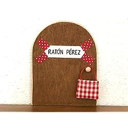 La auténtica puerta mágica del Ratoncito Pérez ♥ De regalo una preciosa bolsita de tela para dejar el diente. El Ratoncito Pérez, vendrá a por tu diente y te dejará una monedita o alguna sorpresita. ♥ ♥