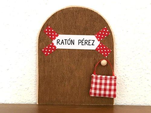 La auténtica puerta mágica del Ratoncito Pérez  De regalo una preciosa bolsita de tela para dejar el diente. El Ratoncito Pérez, vendrá a por tu diente y te dejará una monedita o alguna sorpresita.