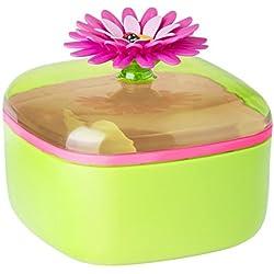 Vigar Flower Power - Azucarero, color verde y magenta
