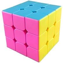 MoYu AoLong V2 3x3x3 Speed Cube Enhanced Edition Hgh Bright Stickerless - Pink