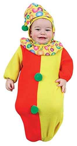 WIDMANN Badeanzug Clown Kinder Unisex Grün Rot Gelb Bis 9 Monate 3593W