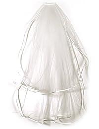 Voile pour Mariage Cathedrale mariee a peigne long bordure 75m ivoire blanc