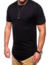 MT Styles Oversize style biker T-Shirt homme C-9070