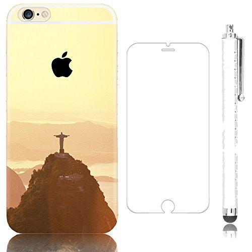 """Sunroyal® Coque Etui Transparente iPhone 6 Plus/6S Plus (5.5"""") Neuf Mince Ultra Fine Housse TPU Silicone Flex Case Cover Soft Gel Cas pour Apple 6 Plus/6S Plus 5.5 pouces 16/64/128 Go (Wifi/3G/4G/LTE) Pattern 0"""