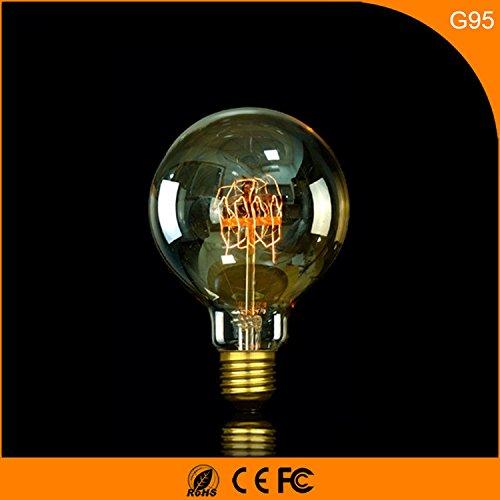 E27 G95 Edison tungsteno seta Lampadina Retro Seta lampadina, bianco