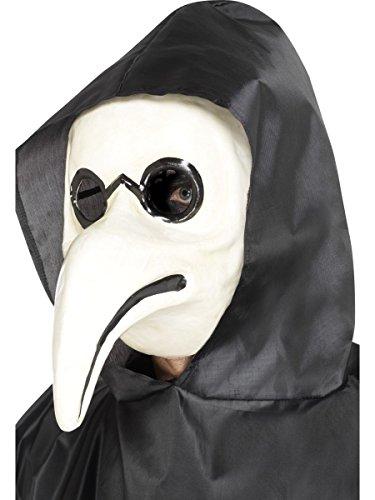 Venezianische Maske Pest Doktor weiß Venedig Karneval (Venezianische Pest Kostüm Doktor)