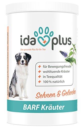 IdaPlus BARF Kräuter - Kräutermischung Sehnen & Gelenke (100% natürlich) für Hund & Katze, Nahrungsergänzungsmittel für Sehnen & Gelenke (150 g)
