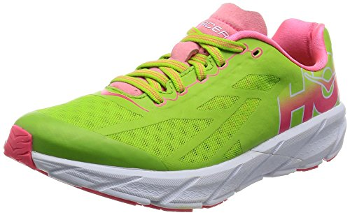 Hoka One One W Tracer Scarpe, Donna, Verde (Bright Green/Neon Pink), 38