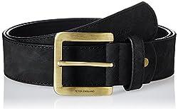 Peter England Mens Synthetic Belt (8907495138251_RL51691425_Medium_Black)