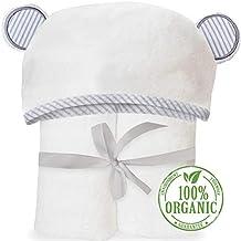 Toalla con capucha para bebés hecha de bambú orgánico – Material ultra suave con capucha con