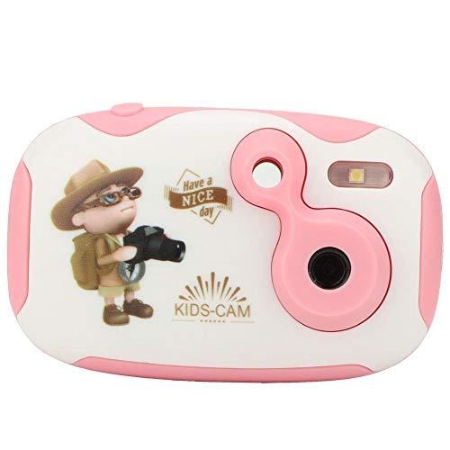 VGEBY1 Kinder Kamera, Cartoon Mini Digitalkamera Cute Camera Video Toy für Jungen Mädchen(Rosa) - Kinder Für Flash-karten Japanische