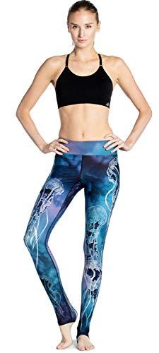 Ayujia Yoga Hosen Leggings Wasser Blau Algen Schlanke Hüften Bewegung Atmungsaktiv Super Elastisch Schnell Trocknend Neun Punkte