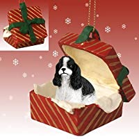 Conversation Concepts Miniature Pinscher Red & Brown Gift Box Red Ornament by Eyedeal Figurines